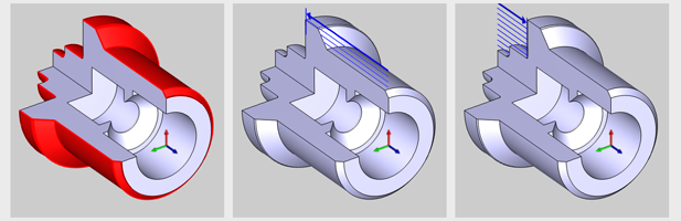 Feature Type and Regions Lathe