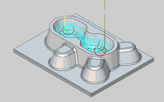 BobCAD-CAM V30  New Feature Arc Leads for Adaptive Roughing