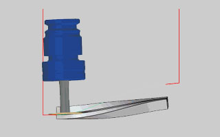BobCAD-CAM V30  New Feature Rapid Distance in Tool Plane