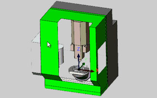 BobCAD-CAM V30 Mill New Highlighting an Object in Simulation