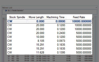 BobCAD-CAM V30 Mill New Machine Simulator Move List improvements