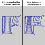 Improved Adaptive Toolpath