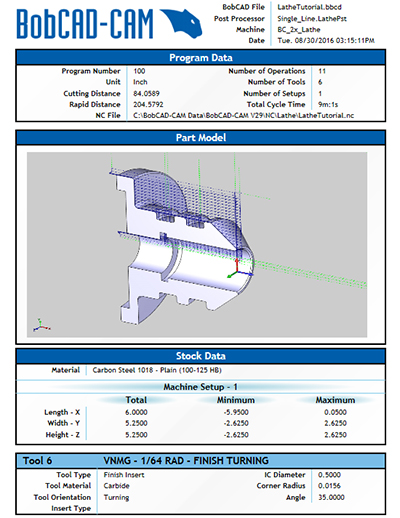 BobCAM for SOLIDWORKS™ V6 Setup Sheets