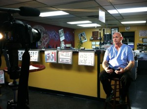 interview on set with john hashey