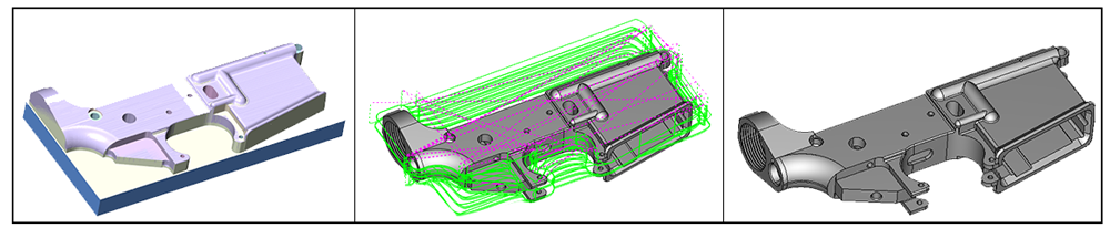 3D CNC software gun made with BobCAD-CAM