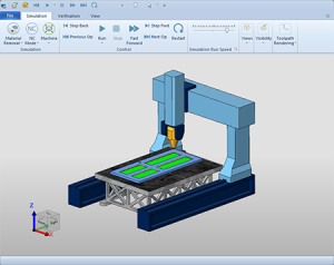 BobCAD-CAM Machine Simulation - 5 AXIS CNC Router