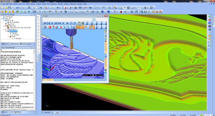 CAD-CAM Software for Artistic Machining and Custom Woodworking