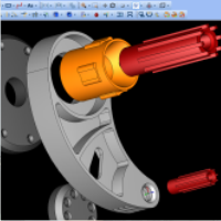 CAD software part model