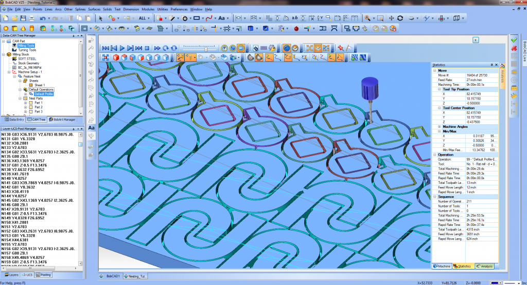 Nesting CAD-CAM Software for Production Machining