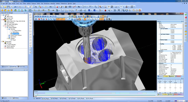 multiaxis port milling cad-cam software