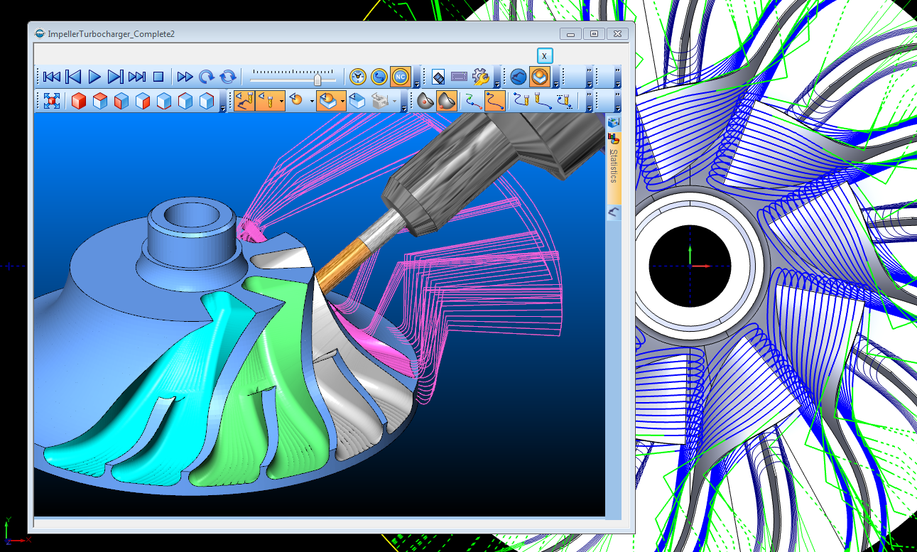 CAD-CAM High Speed Toolpaths for 5 Axis CNC Programming
