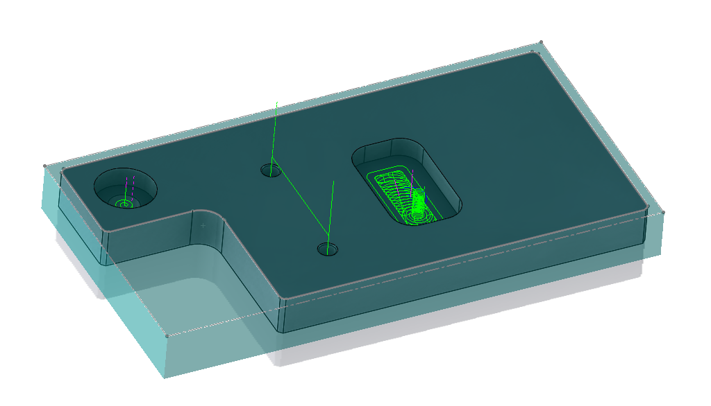 Open Pocket in 2D for CNC software