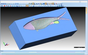 CNC Software Siumluation 3D view shad