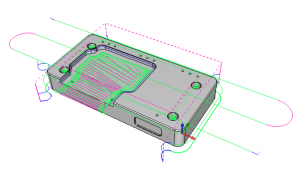 CAD-CAM Software for CNC Programming Open Pocketing