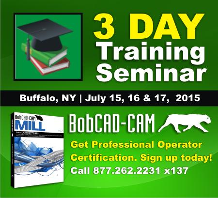 BobCAD-CAM Training Seminar in Buffalo, NY