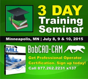 CNC CAD-CAM Software Training Seminars Minneapolis Minnesota