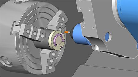 Mill Turn Simulation in the BobCAD-CAM CAD-CAM Softwar