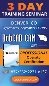 BobCAD-CAM Training Seminar Denver Colorado