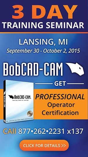 CNC Programming Training Seminar CAD-CAM Software Lansing Michigan