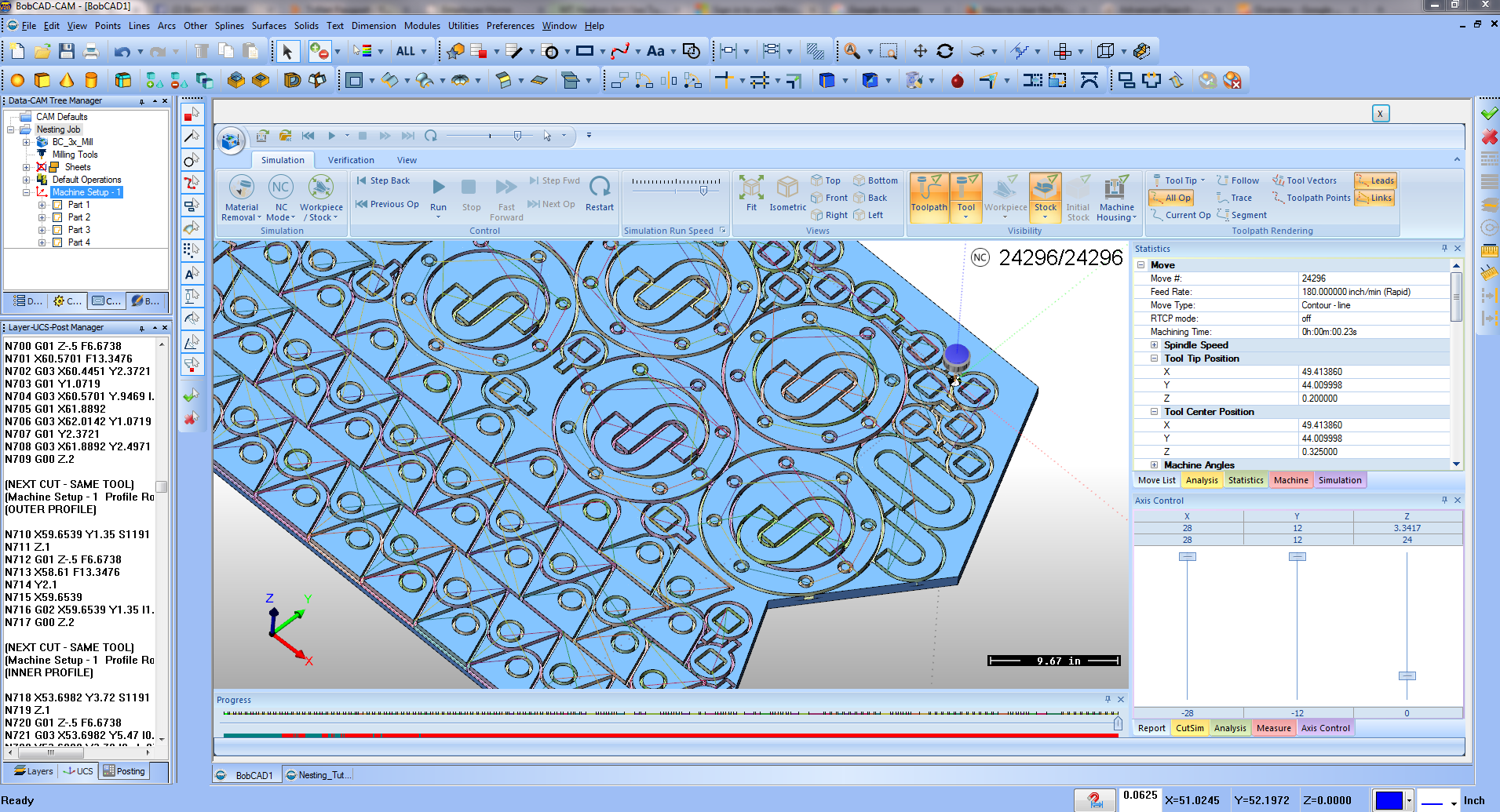 CAD-CAM Software for Nesting and Sheet Optimizing   BobCAD-CAM