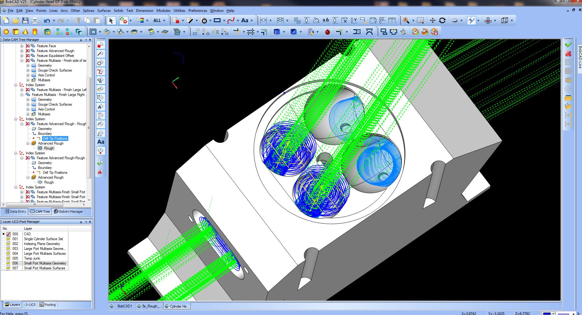 MultiAxis CNC Port Milling Gets Easier   BobCADCAM
