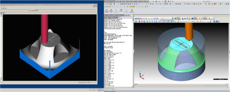 bobcam for solidworks cnc machine simulation of wax rax part