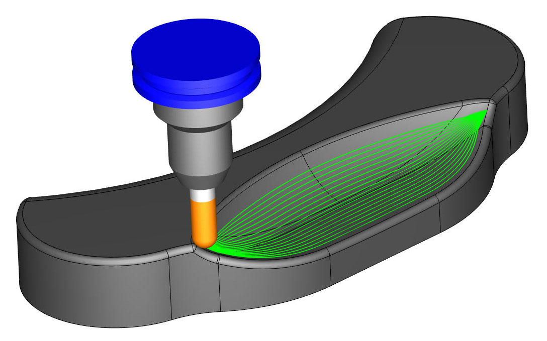 Surface Based Toolpath Morph Between 2 Surfaces