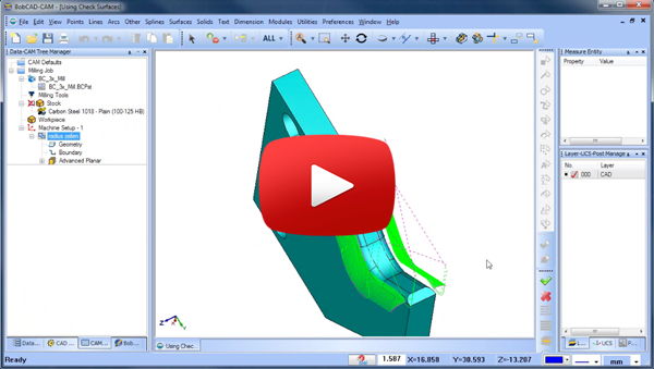 Check Surfaces CAD-CAM Quick Tip Video