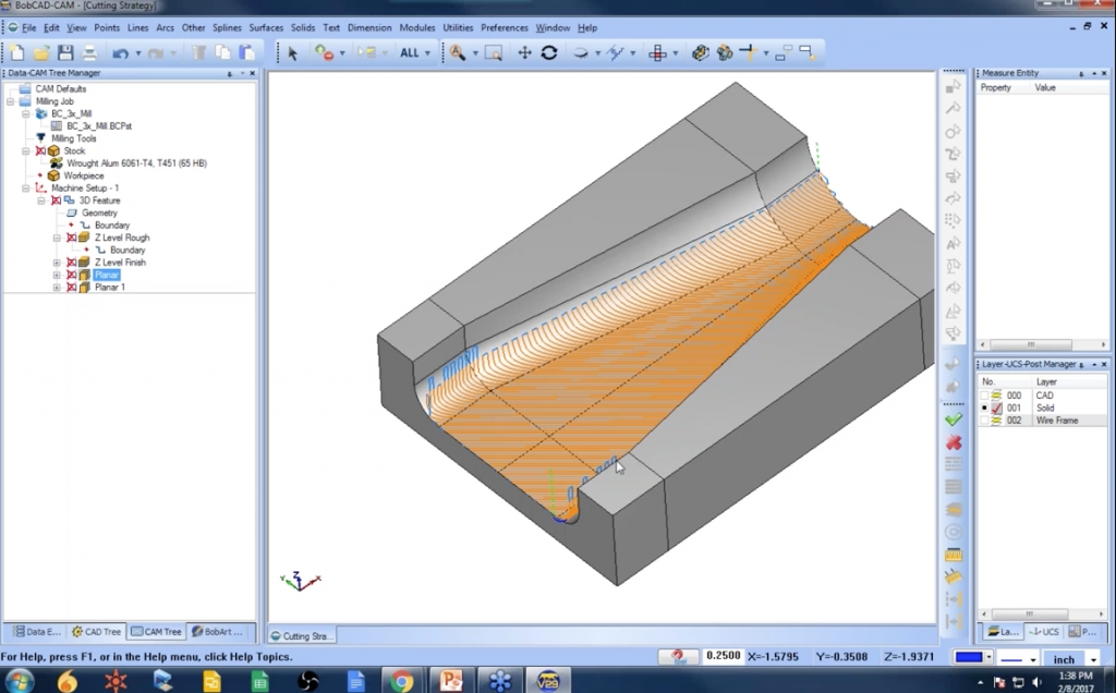 Planar Toolpath BobCAD-CAM CAM Software for CNC Programming