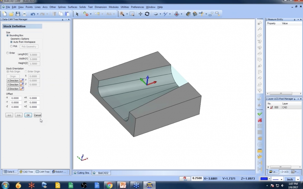 Setting the Zero in BobCAD-CAM CAD-CAM Software for CNC Programming