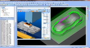 3 Axis CNC Milling CAD CAM software simulation