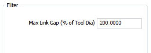 Max Link Gap Percentage
