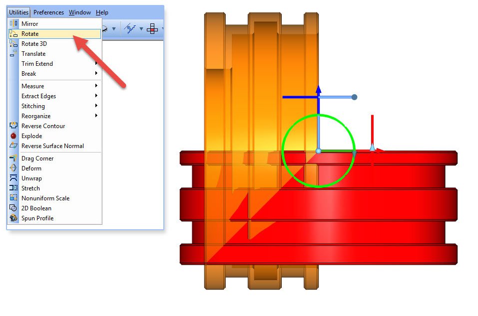 Rotate a Part in BobCAD-CAM Software
