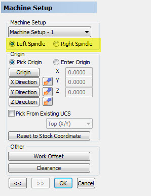 Spindle Setup Location in BobCAD-CAM