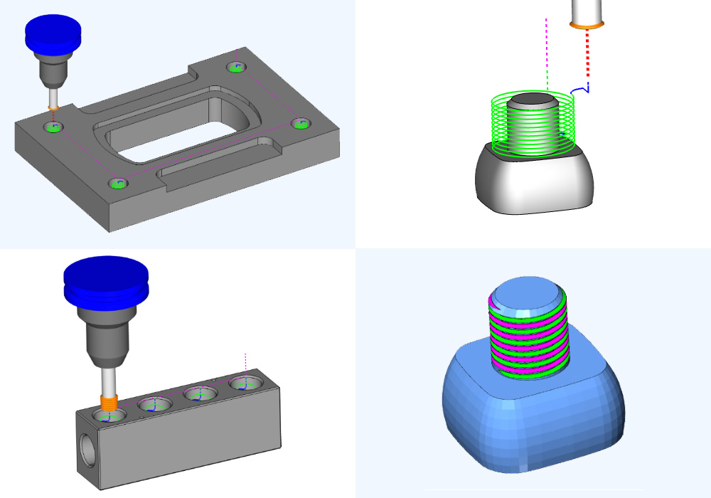 Thread Milling Types Supported in BobCAD-CAM
