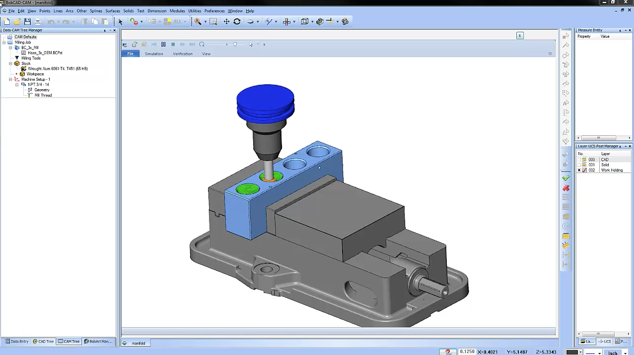 Thread Milling with BobCAD-CAM CNC Programming Software
