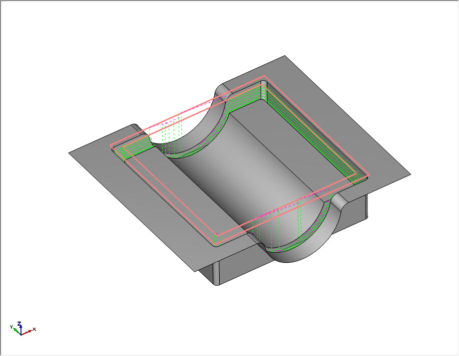 Z Level Finish CAM Toolpath Boundary