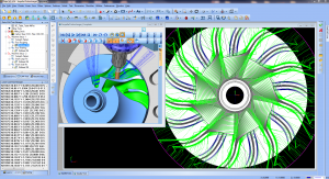 Multiaxis cnc cad-cam software for 5-axis milling