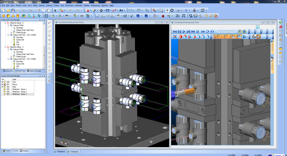 CNC Software for Tombstone Machining
