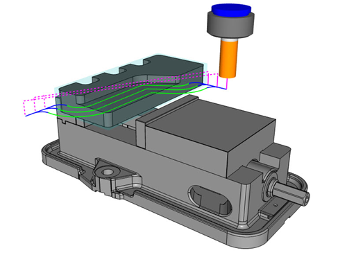 2D Side Rough in CAD-CAM
