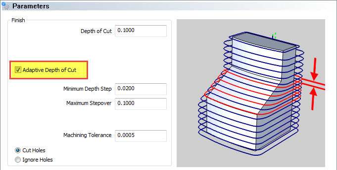 Adaptive Depth of Cut Advanced Z level Finish