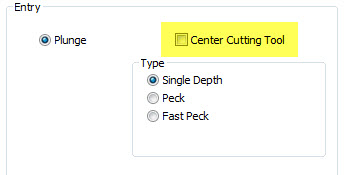 CAD-CAM Uncheck center cutting tool