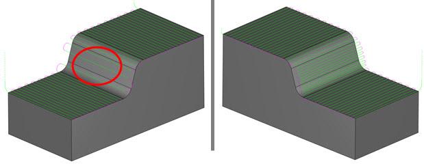 CAD-CAM adaptive stepover