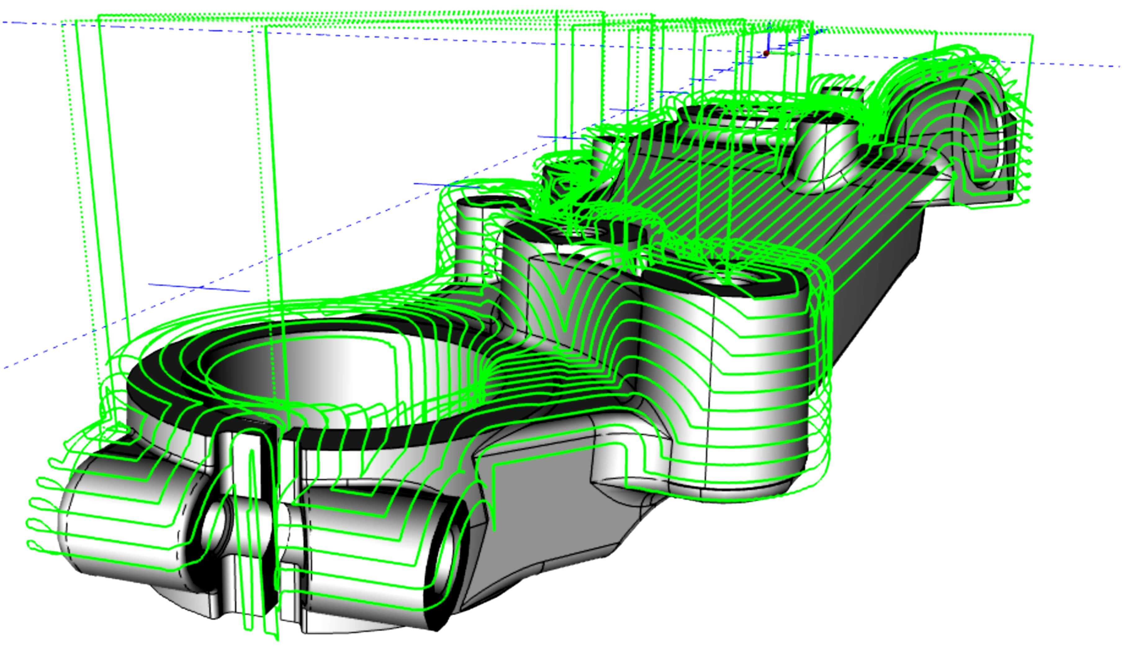 3d cad-cam toolpath