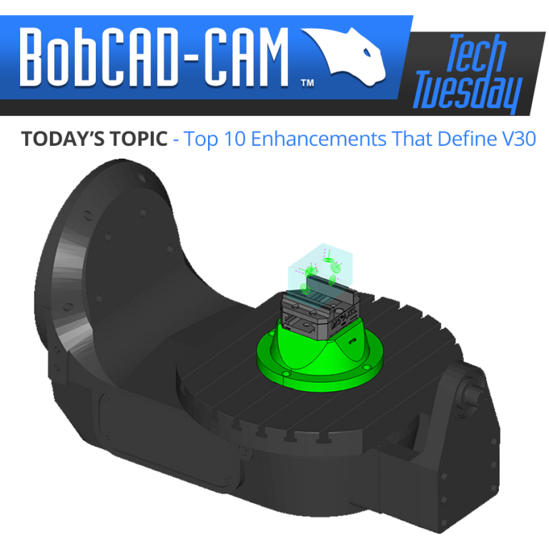 Top 10 enhancements in BobCAD's V30 CAD-CAM system