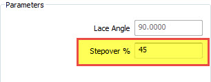 cam software offset pocket stepover