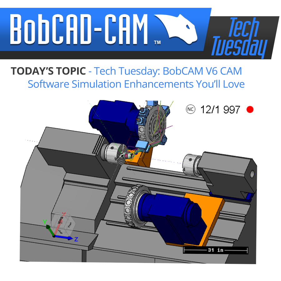 Tech Tuesday: BobCAM V6 CAM Software Simulation Enhancements You'll Love