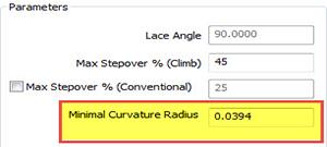 Minimal Curvature Radius