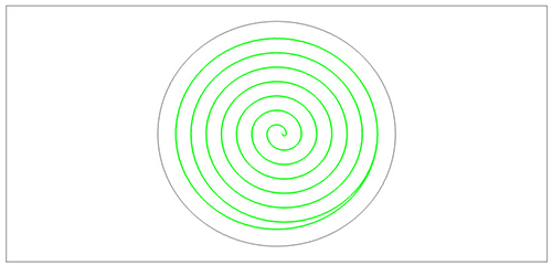 cad-cam software spiral pocket