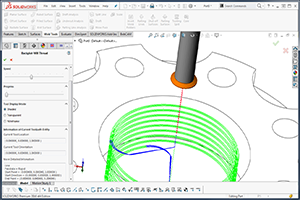 BobCAD-CAM's CAM software enhancement Thread Milling